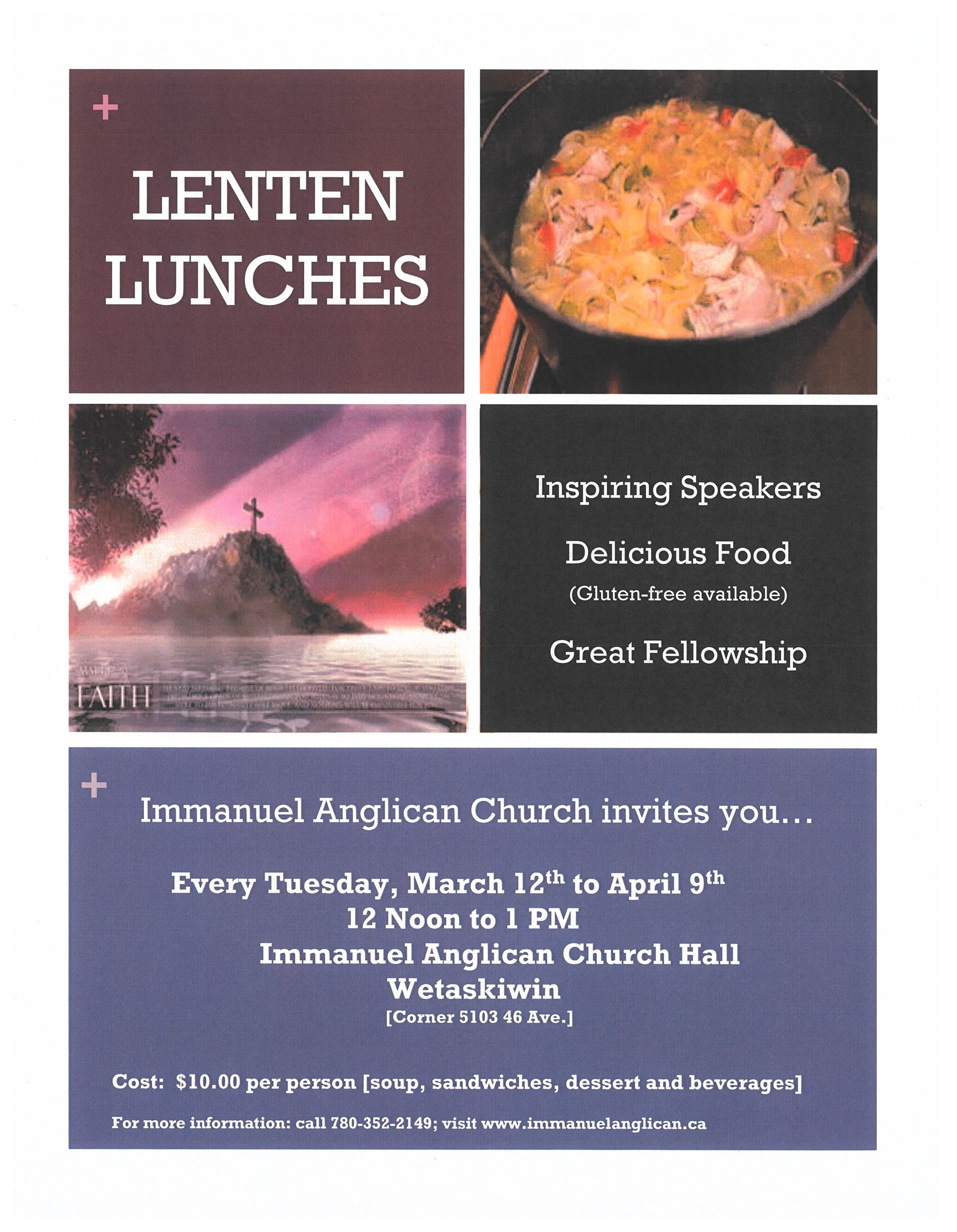 Lenten Lunches poster