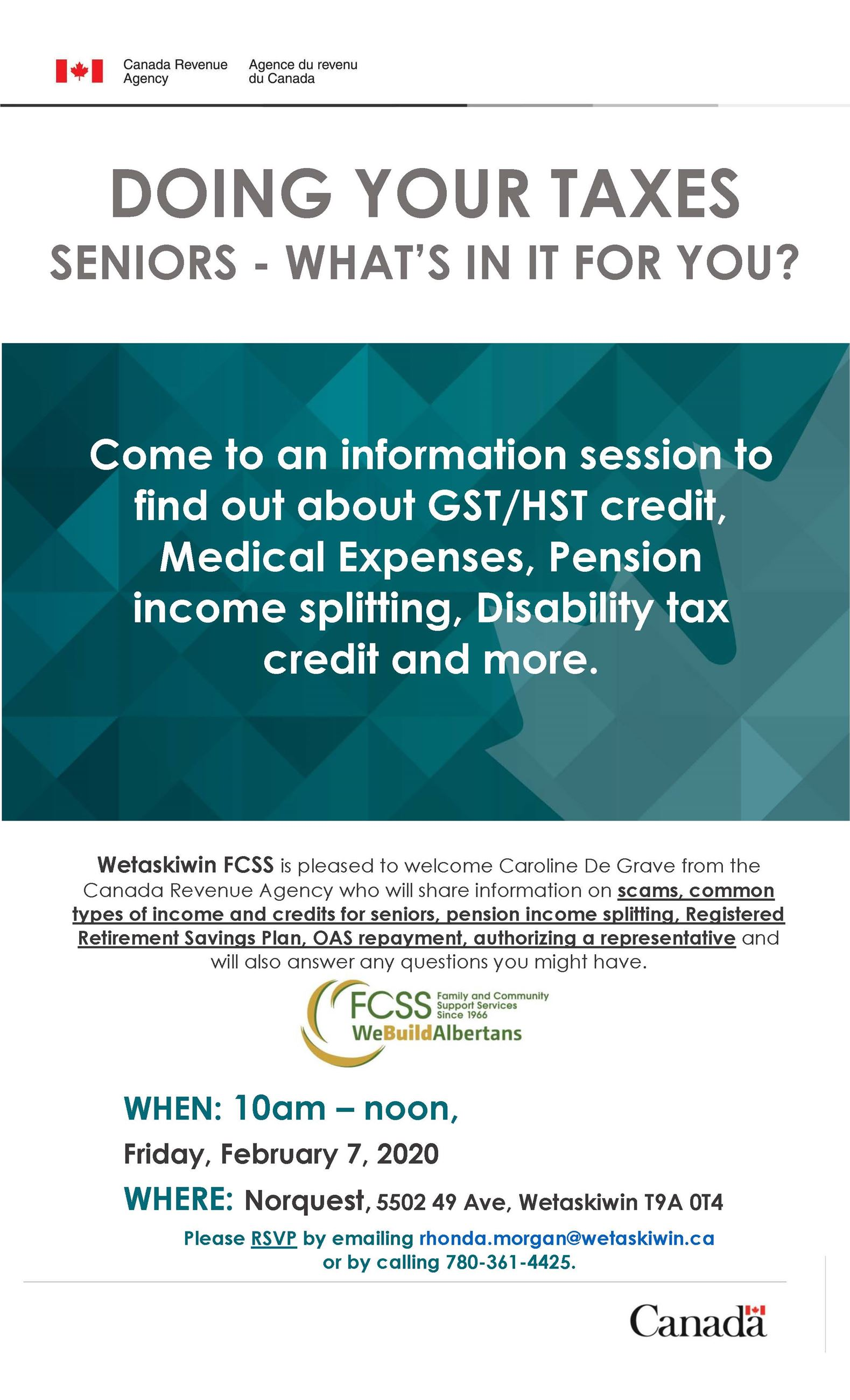 CRA Seniors Info session poster_Legal size_EN