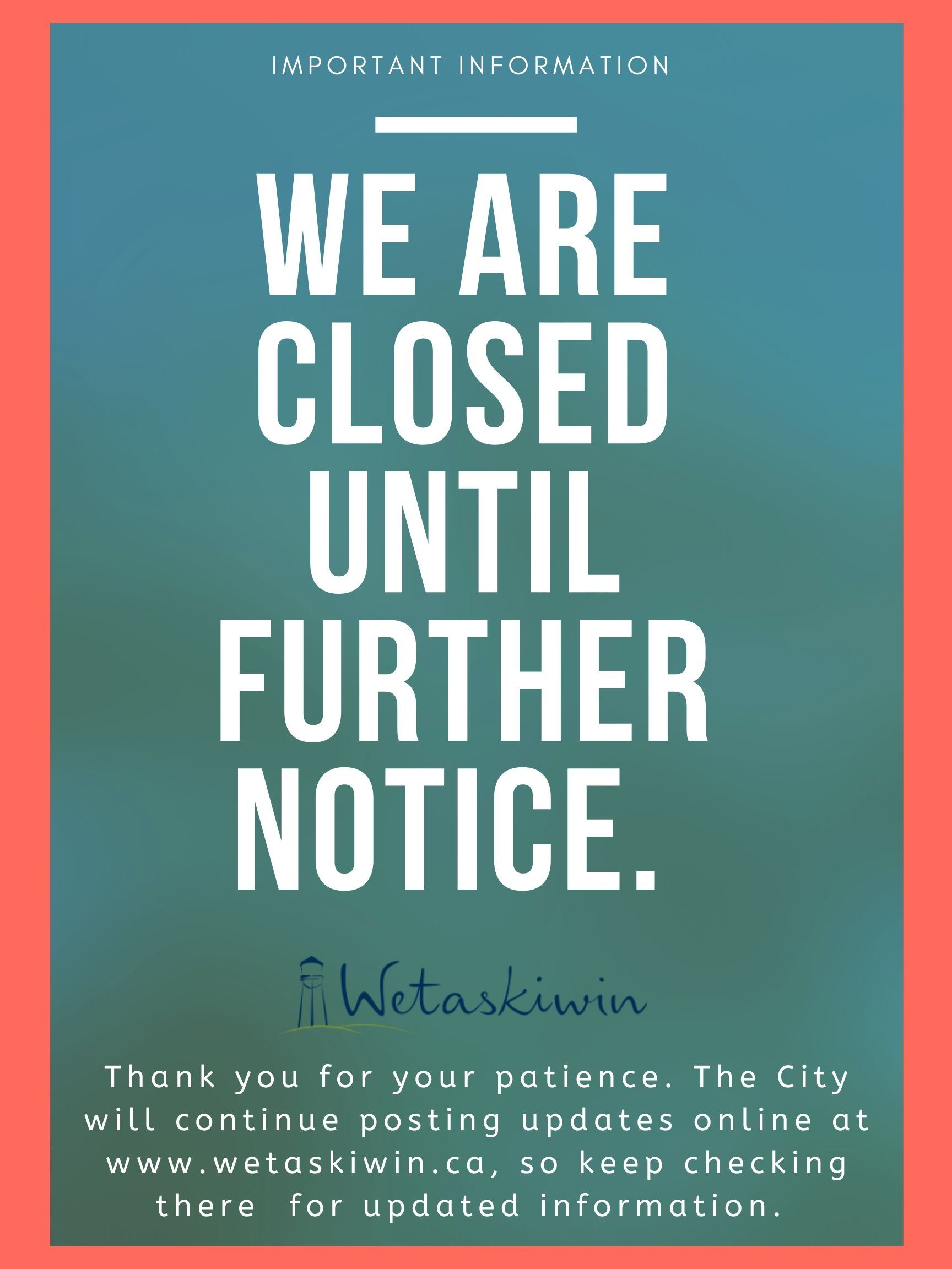 We are closed (1)