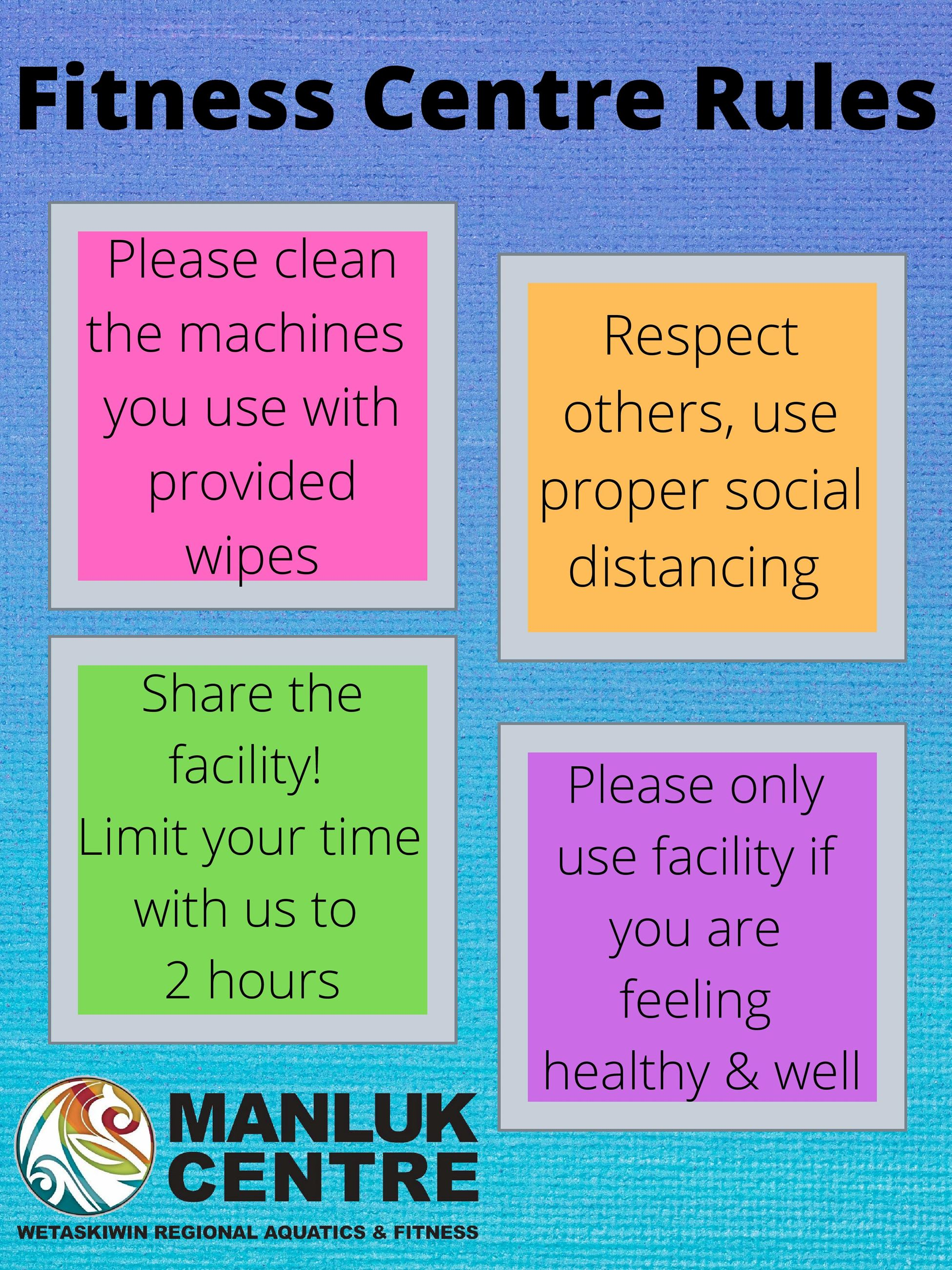 Fitness Centre Rules