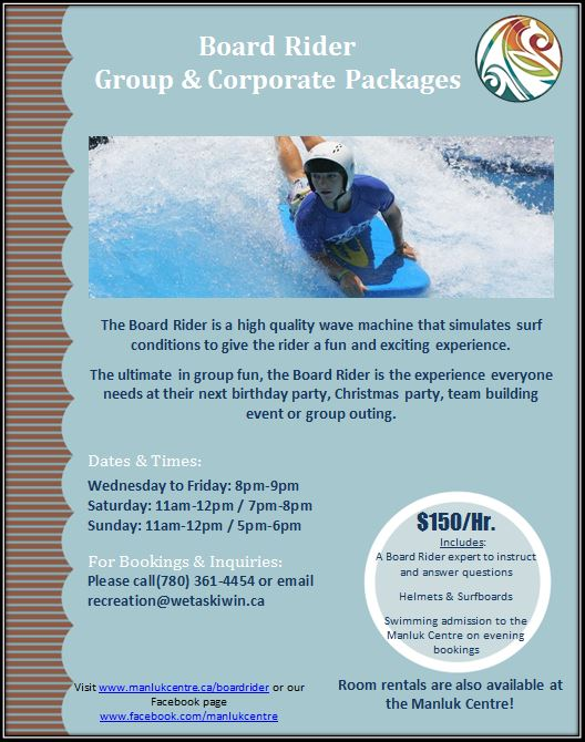 Board Rider packages flyer