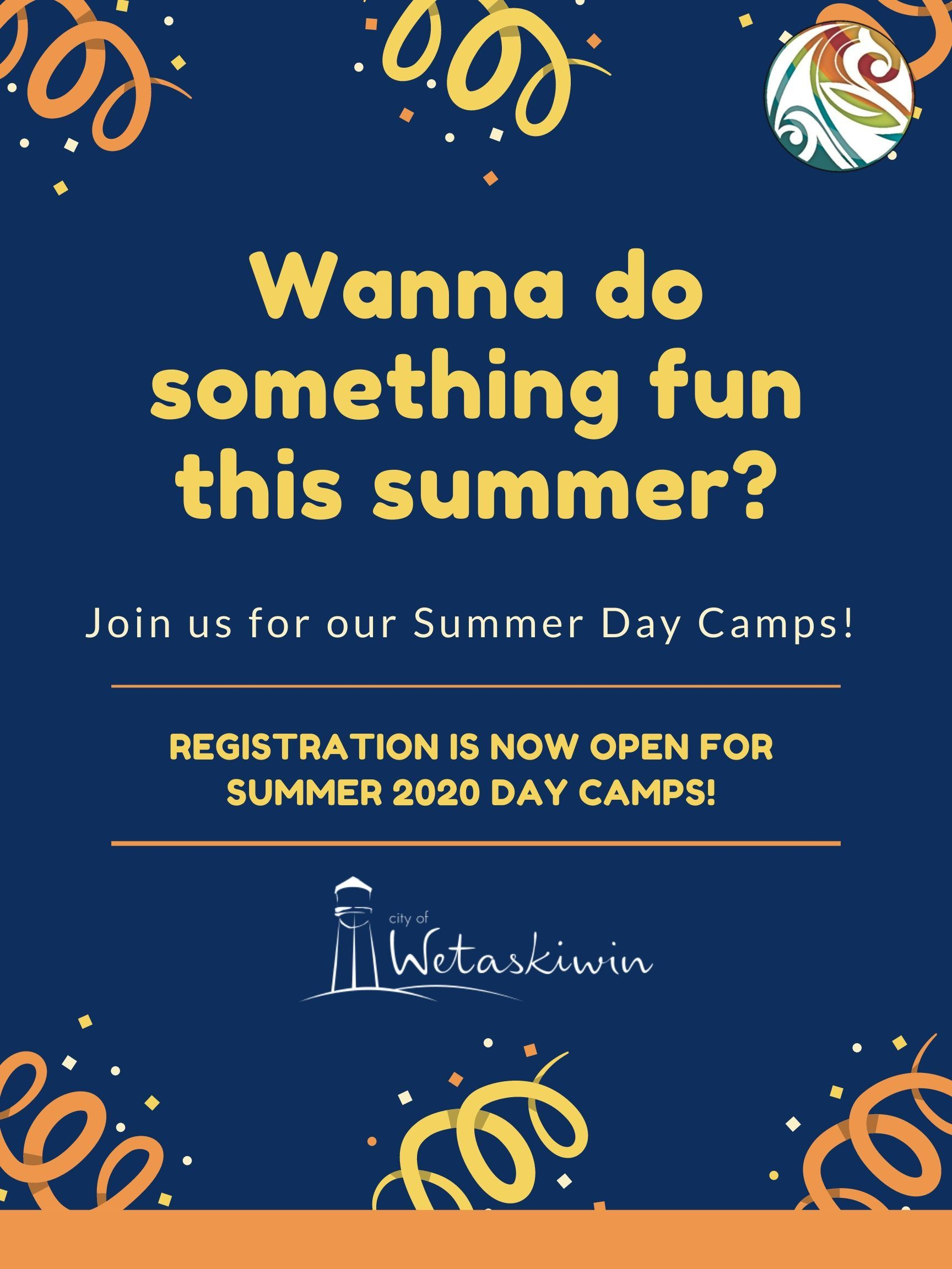 Registration is Open - Summer Day Camp 2020